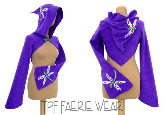 Libelle Fleece 'Korrigan' Achselzucken von tpffaeriewear auf Etsy