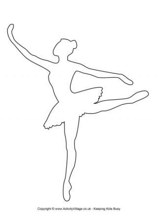 ballerina template 2 more ms - Printable Drawing Stencils