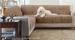 Armless Sectional Sofa Pet Protector Best In The World Deluxe Furniture For Loveseat Living Room