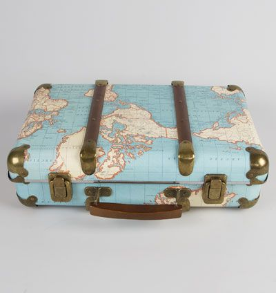 Resvska around the world for the little ones pinterest shop world map suitcase storage vintage style gumiabroncs Image collections