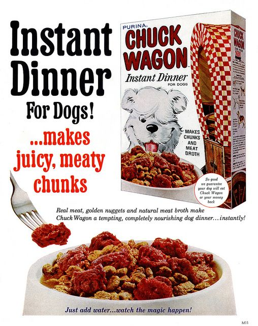 Wanted Purina Chuck Wagon Dog Food Box Pictured In Magazine