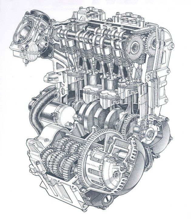 Pin By Rick On Motores Motorcycle Drawing Engineering Automobile Engineering