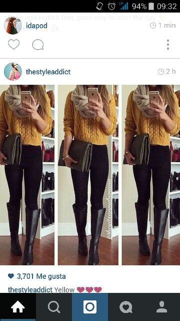 #Yellow #Scarf #Winter #LongBoots