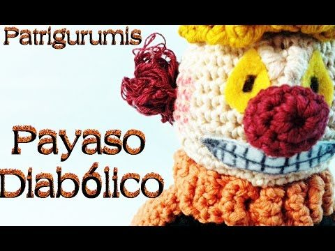 DIY Payaso halloween amigurumi - Crochet - YouTube | amigurumis ...