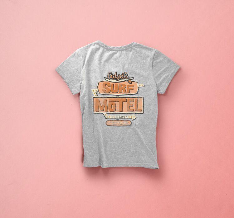 T Shirt Design Surf Motel Vintage Motel Sign Shirt Designs Clothing Packaging T Shirts For Women