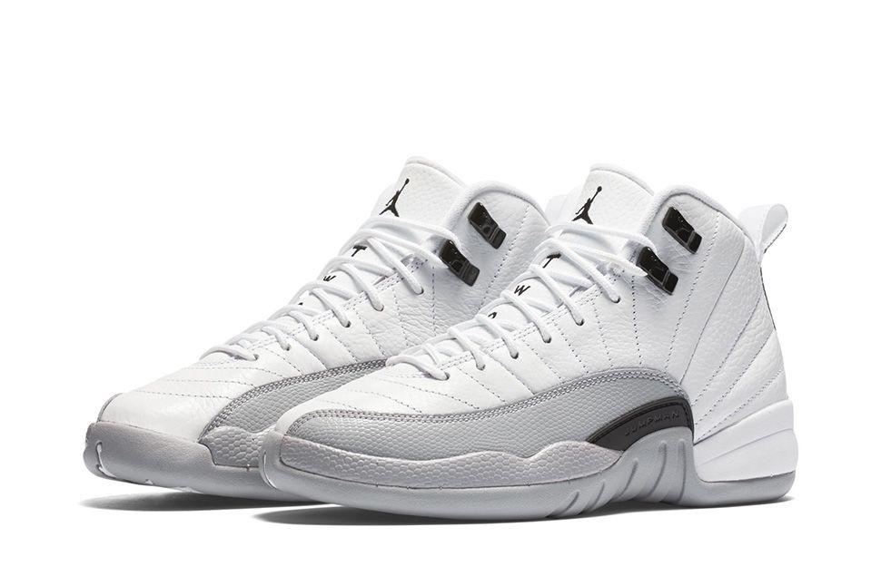 jordan retro 12 gray and white