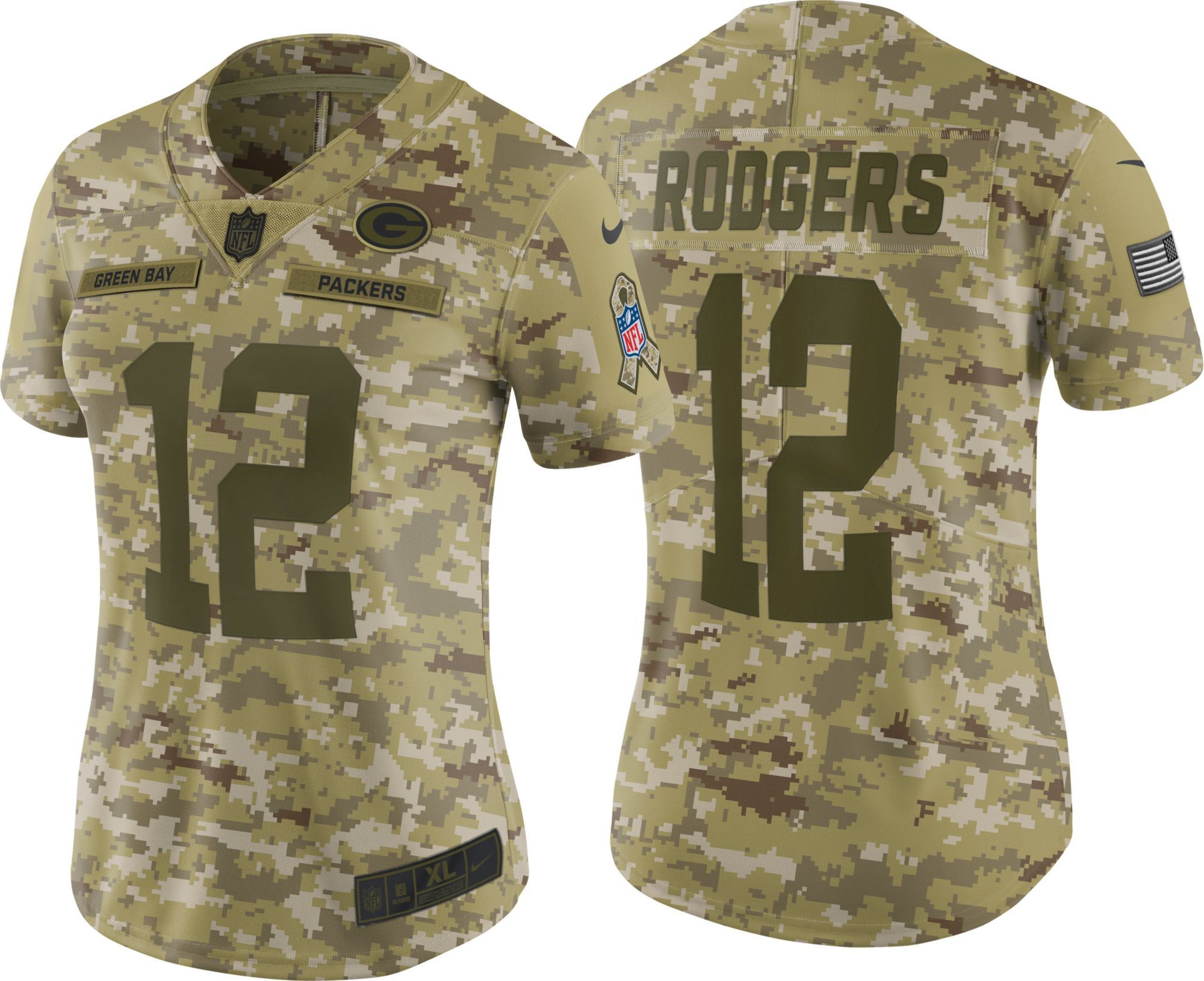 aaron rodgers salute to service jersey