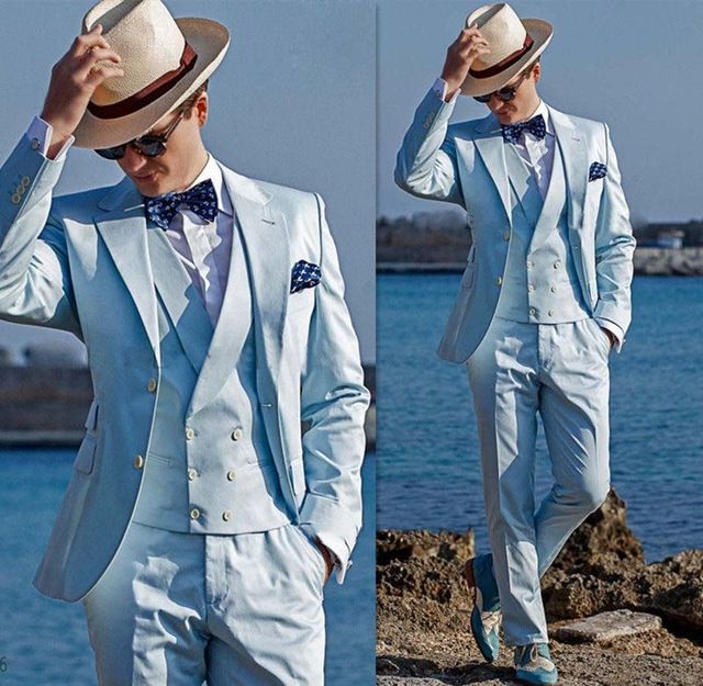 New Arrival Mens Dinner Party Prom Suits Groom Tuxedos Groomsmen ...
