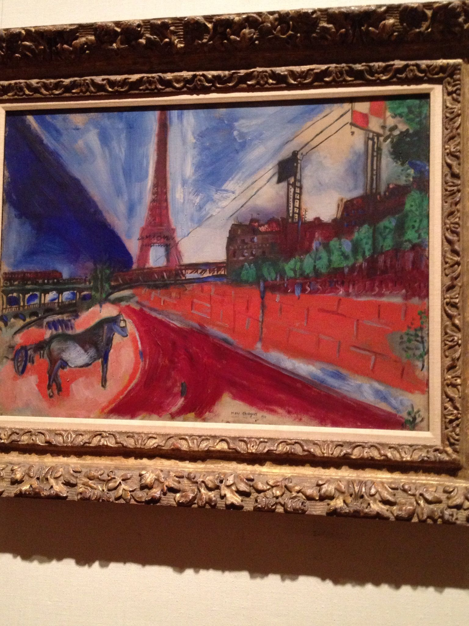 Met Museum Nyc Marc Chagall The Pont De Passy And The Eiffel