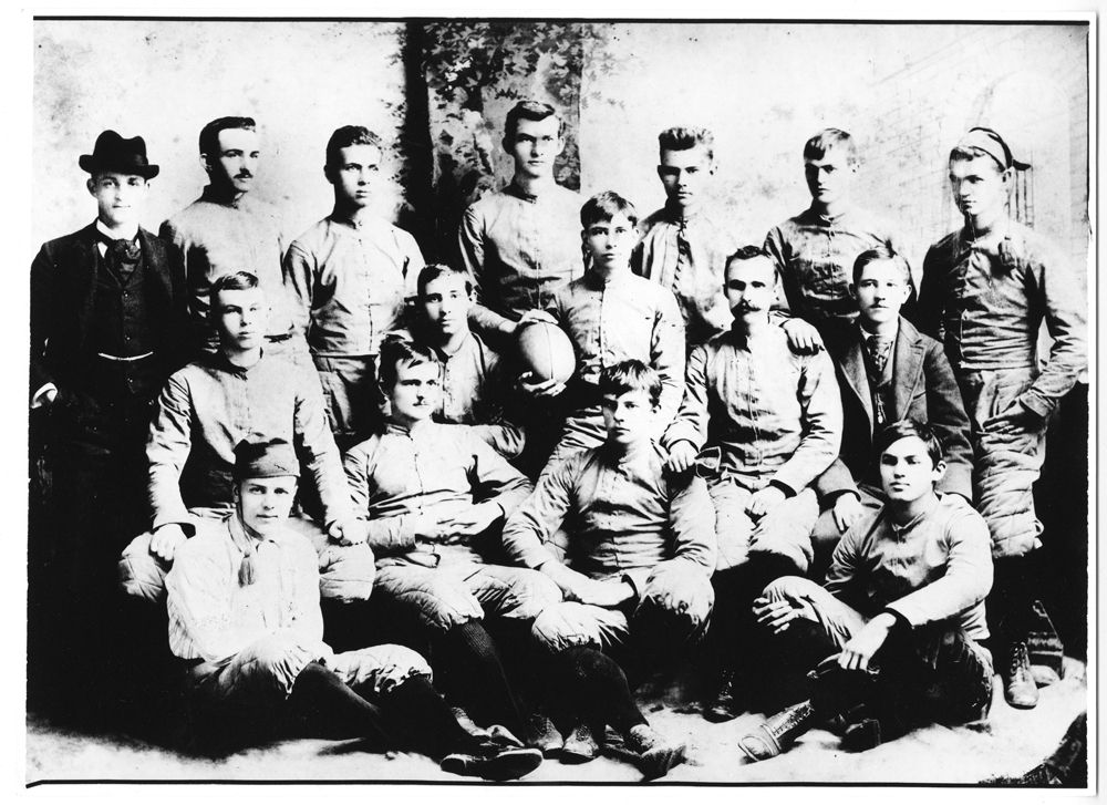 Tech's First Football Team 1892 Tech history,