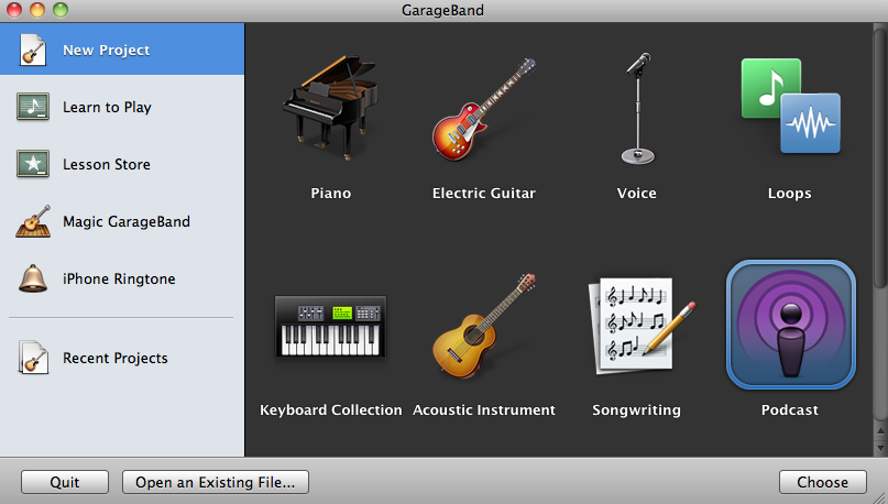 The Garage Band app will allow students to create music