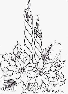 Chrismas coloring flowers google search bordados - Dibujos navidenos para bordar ...