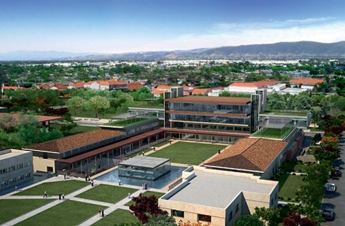 Aerial view of Claremont Mckenna College #LEED #hovellife