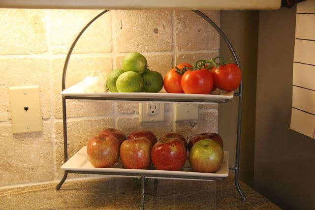 Want A Double Tiered Fruit Stand Will Hold More Fruit Without Piling It On Top Of Each Other Easier To See Kitchen Refresh Fruit Storage Fridge Organization