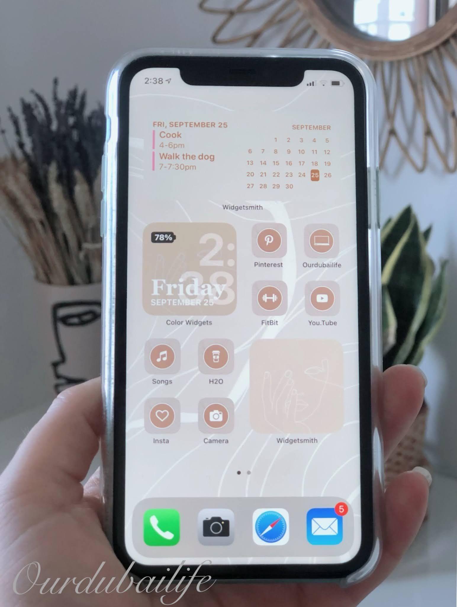 Ios 14 Iphone Aesthetic Inspo Tutorial Iphone Widget Design Iphone App Design