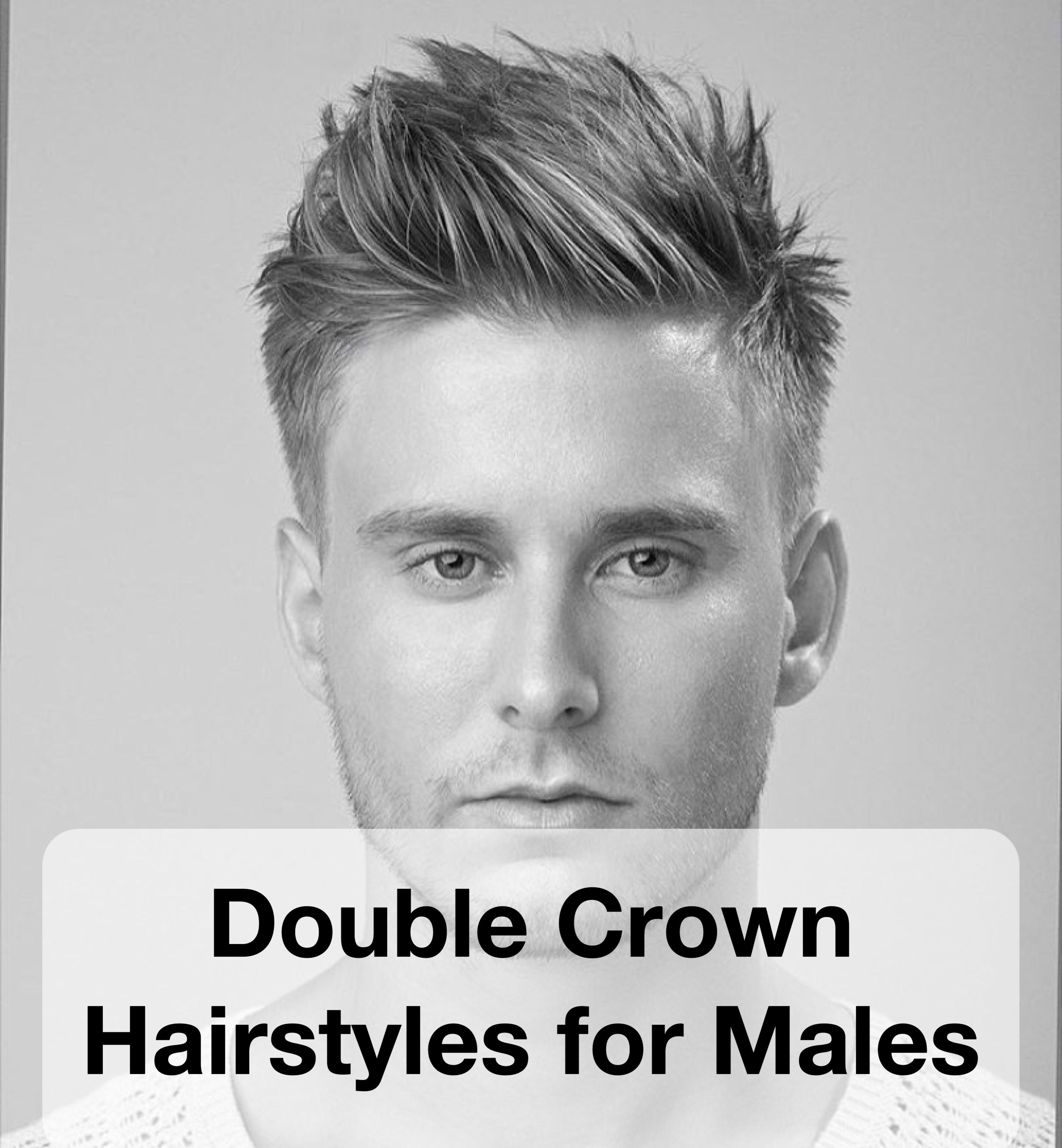 double crown hairstyles for males   spiky hair   double