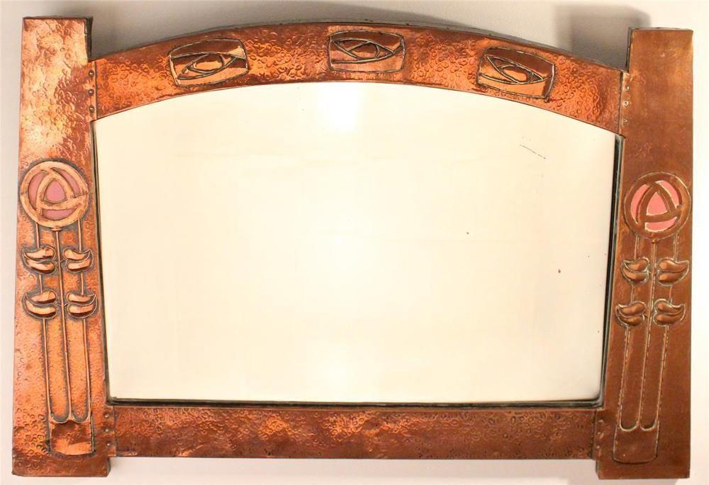 Beautiful Antique Arts and Crafts/Art Nouveau Glasgow Rose Copper ...
