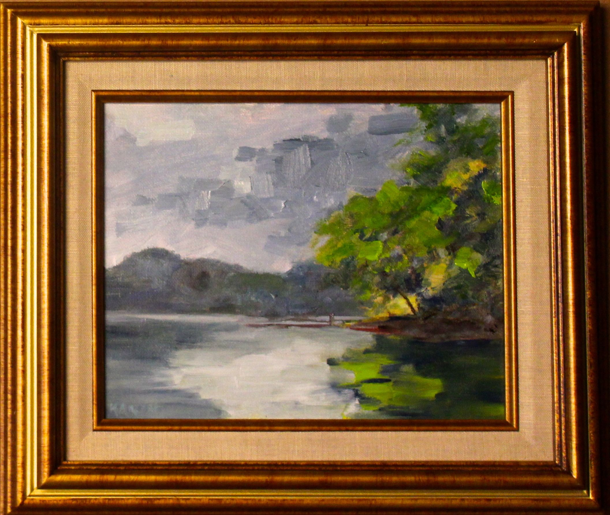 Plein Aire II Catawba River 8x10 oil on canvas board