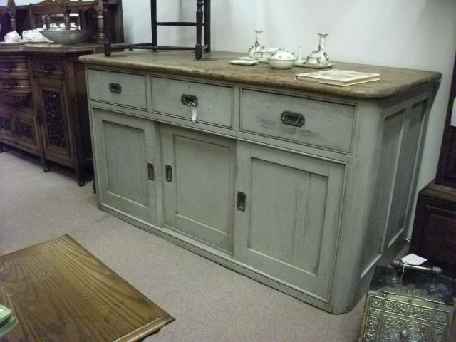 victorian pine painted sideboard painted pine wooden sideboard french style shabby chic. Black Bedroom Furniture Sets. Home Design Ideas