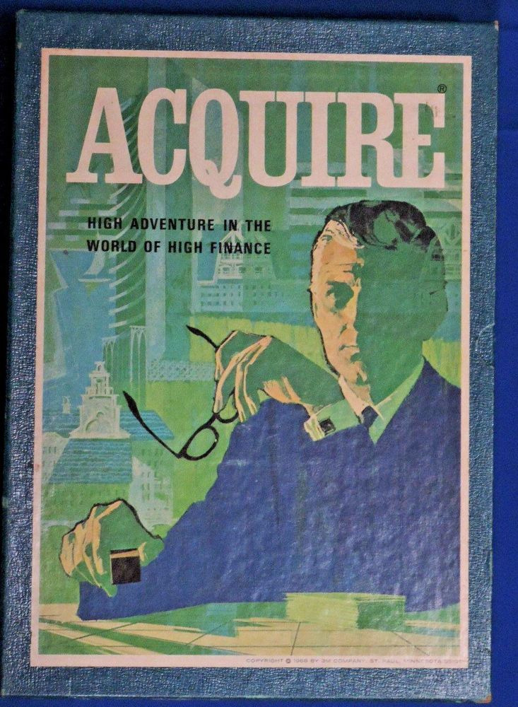 Vintage Board Game 1968 Acquire Family Game Night 3M