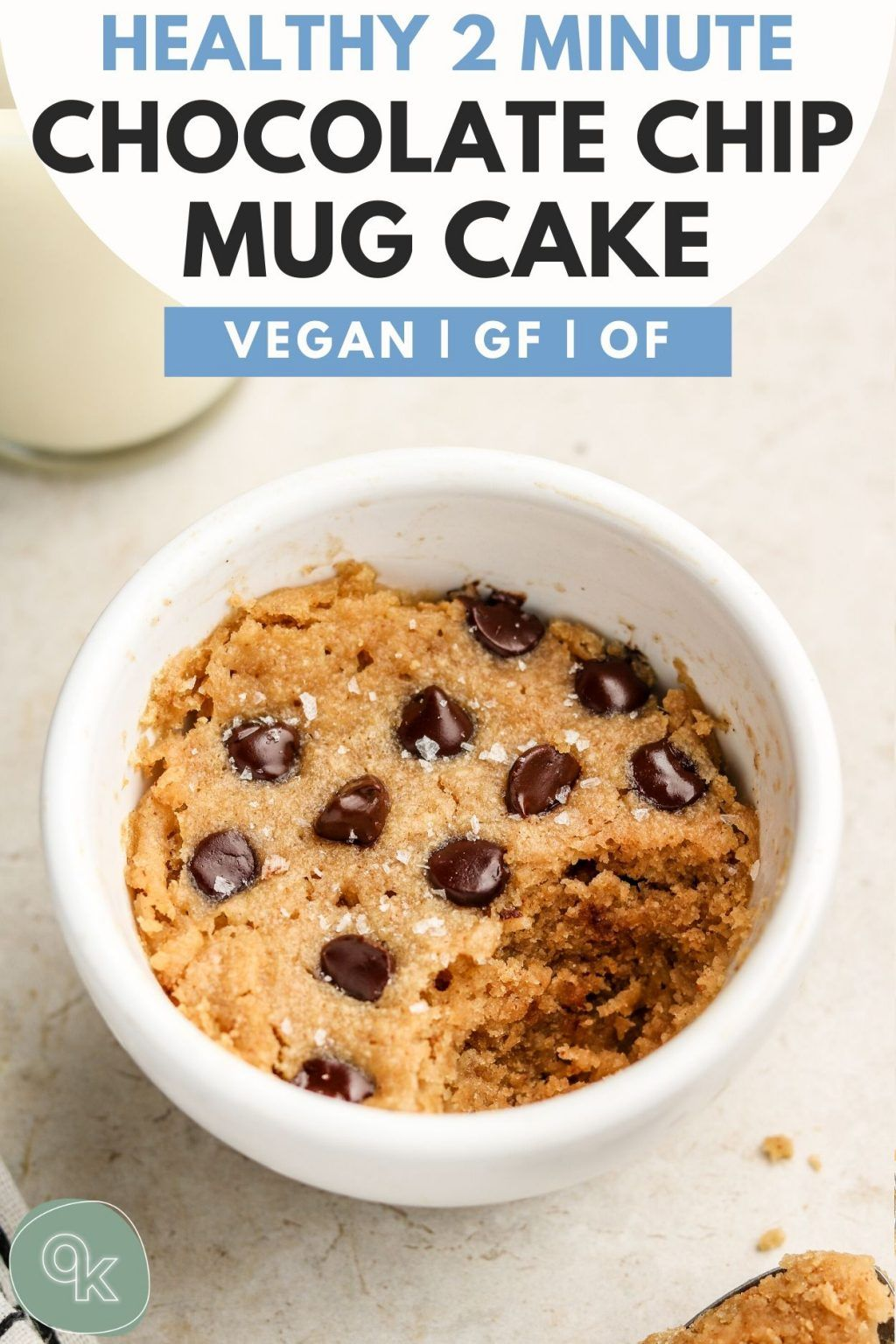 Healthy Chocolate Chip Mug Cake (Vegan + Gluten Free) - Okonomi Kitchen