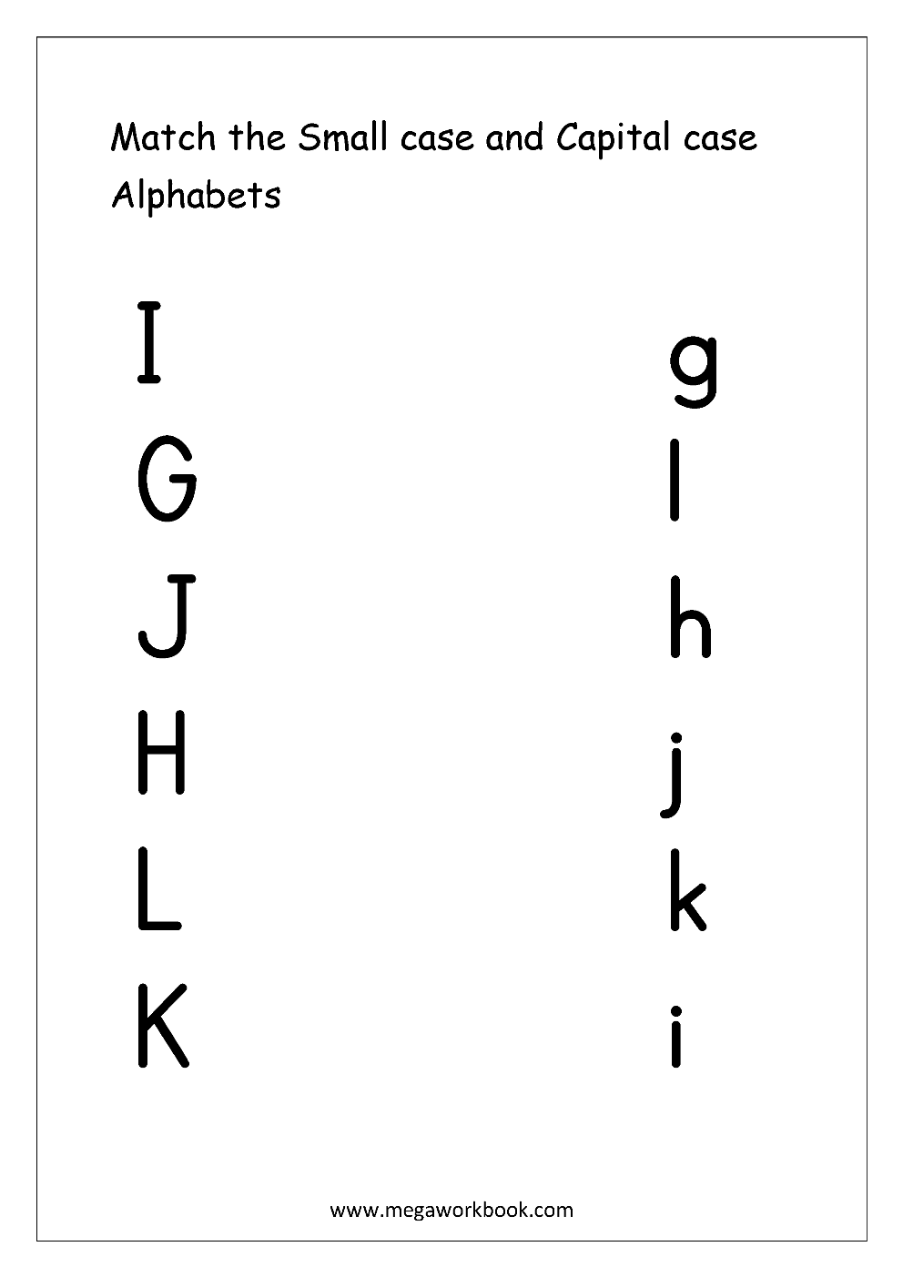 English Worksheet - Match Small And Capital Letters   Letter worksheets [ 1403 x 992 Pixel ]