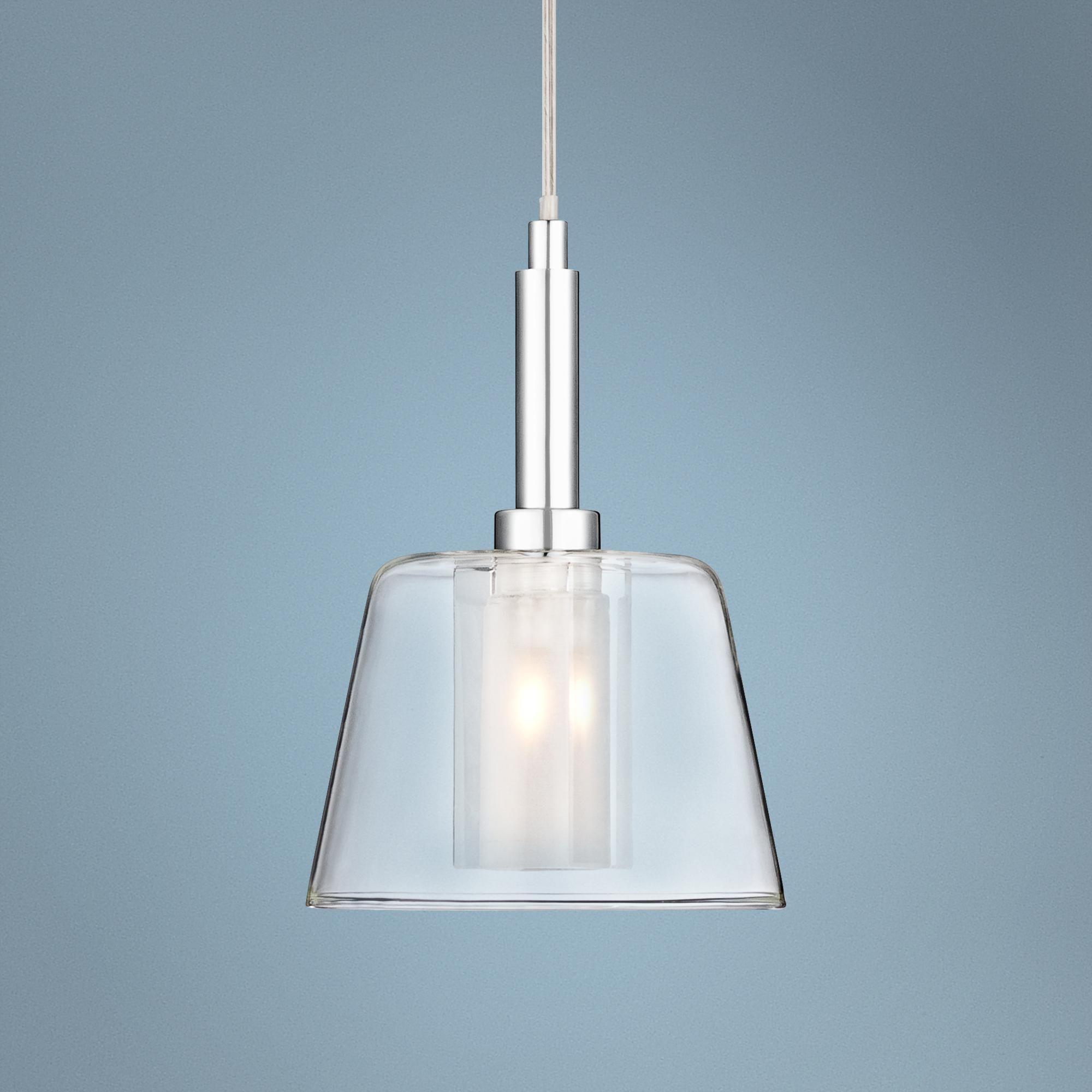 Vesper Glass And Chrome Mini Pendant Light W8039 Lamps Plus Pendant Light Mini Pendant Lights Pendant Light Fixtures