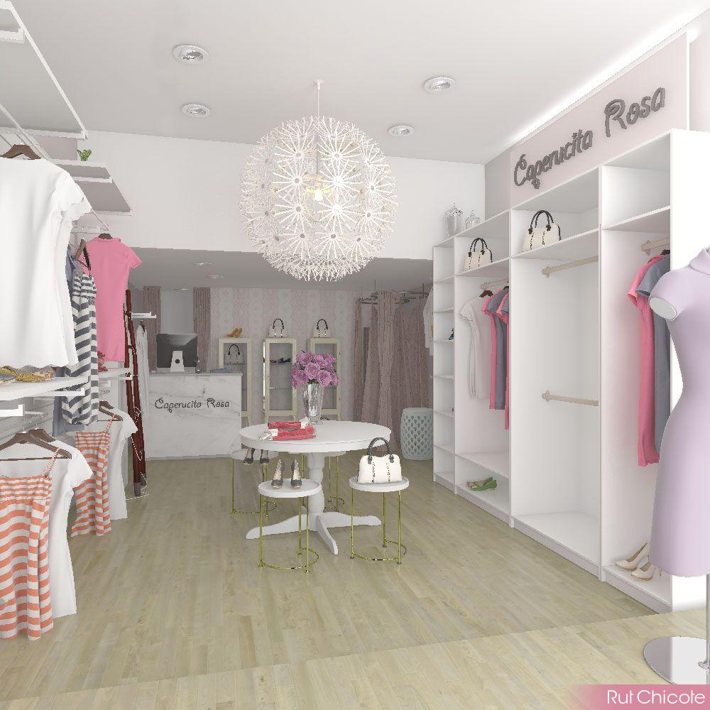 Interiorismo comercial dise o de tienda de ropa fashion for Diseno de interiores almacenes de ropa