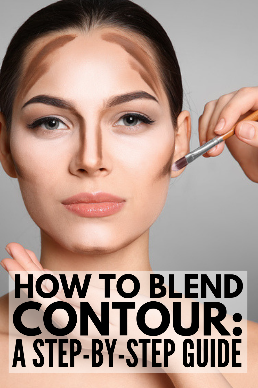 How to Blend Contour: A Step by Step Guide | If you're looking for makeup tips and tutorials to teach you how to blend contour like Kim Kardashian, we've got you covered! From choosing the right products (cream or blush?!), to working with brushes and sponges, to figuring out the best contour application techniques for your face shape, to knowing where to apply contour and highlight, we'll teach you how to get a sculpted look you'll love! #howtocontour #contourmakeup #contour #contouring