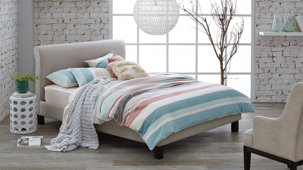 Finn Queen Bedhead with a Slat Base Beds & Suites
