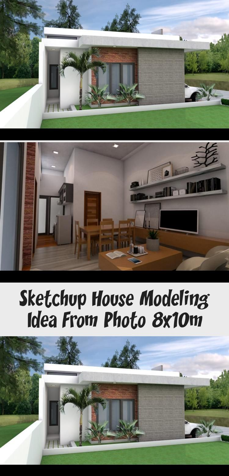Sketchup House Modeling Idea From Photo 8x10m Modern House