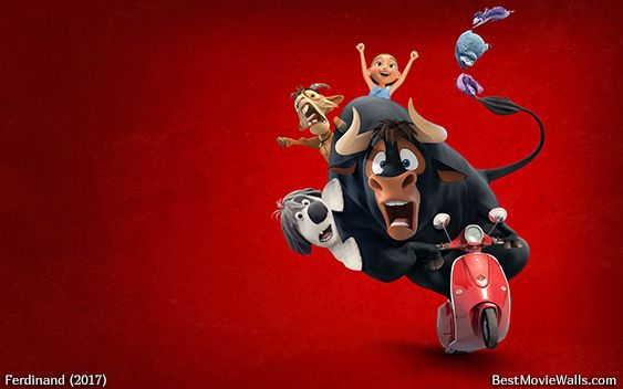 Ferdinand And His Friends Riding A Vespa In This Wallpaper Hd