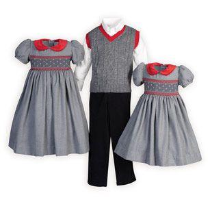 Classic Grey Brother Sister Outfits (med bilder)   Barnkläder