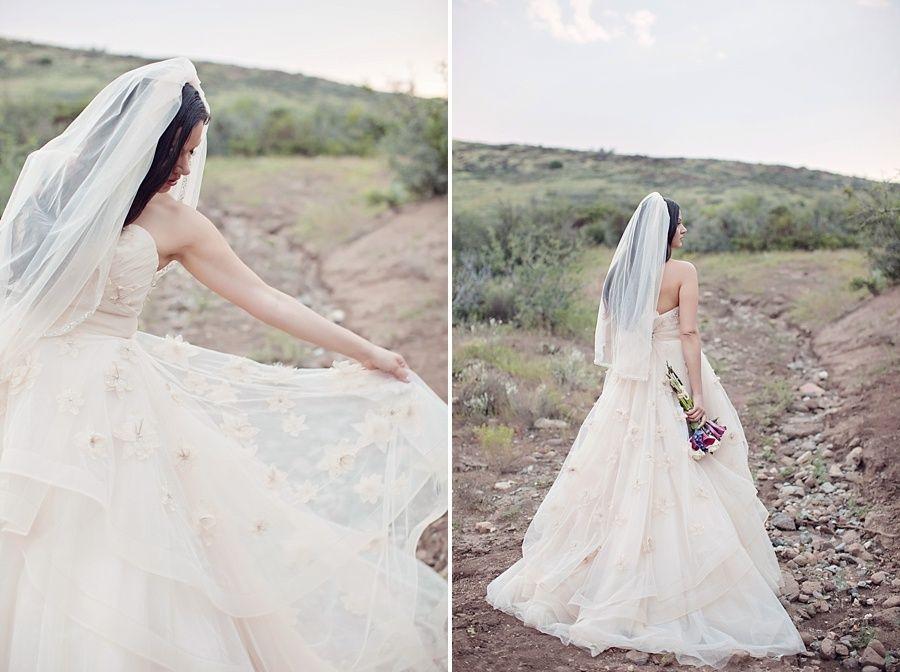 real Arizona bride in watters wtoo olivia dress. GORGEOUS ...