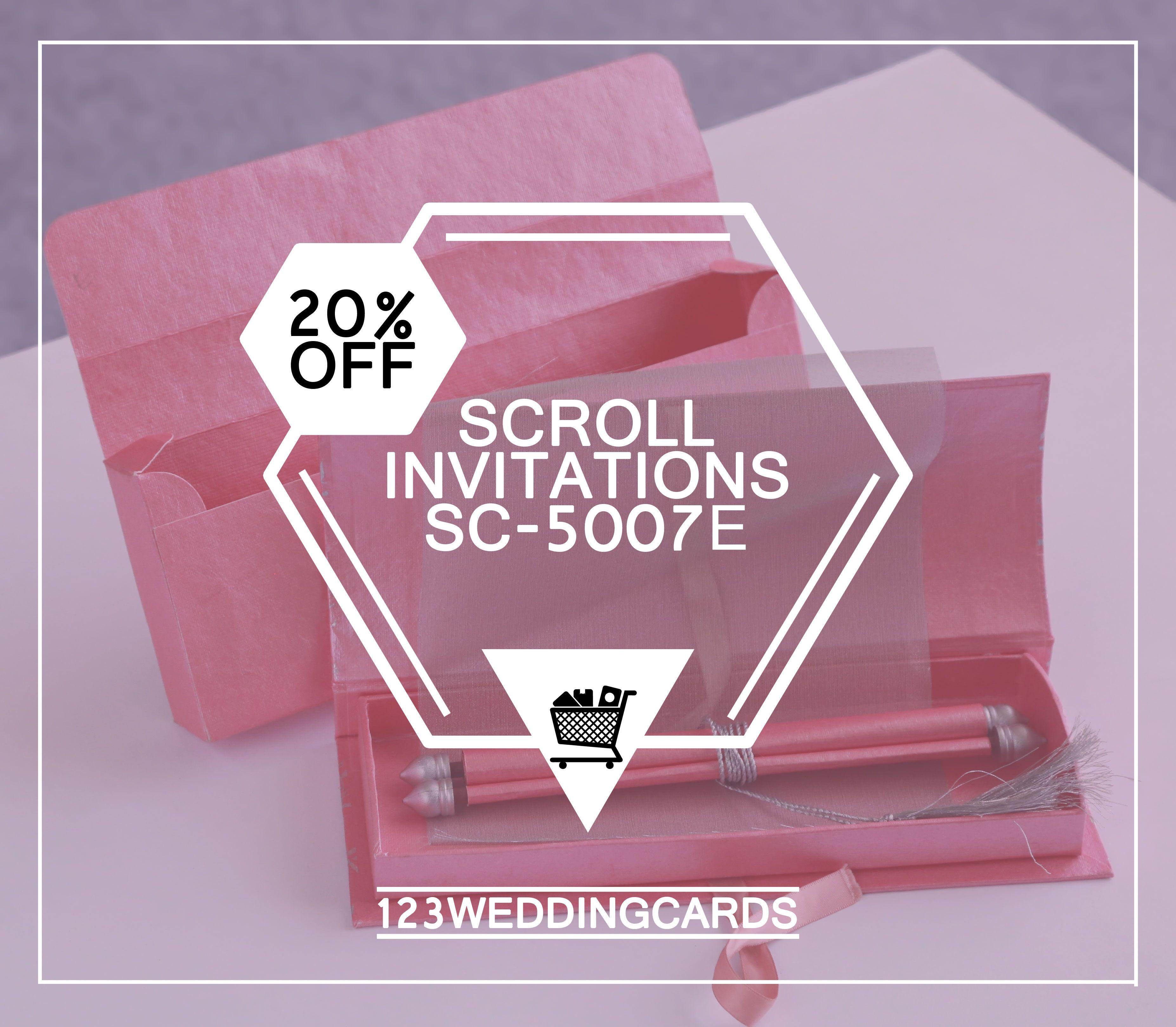 Wedding Venues Near Me Cheap: Pink Handmade Shimmer Wedding Invitation : Sc-5007e