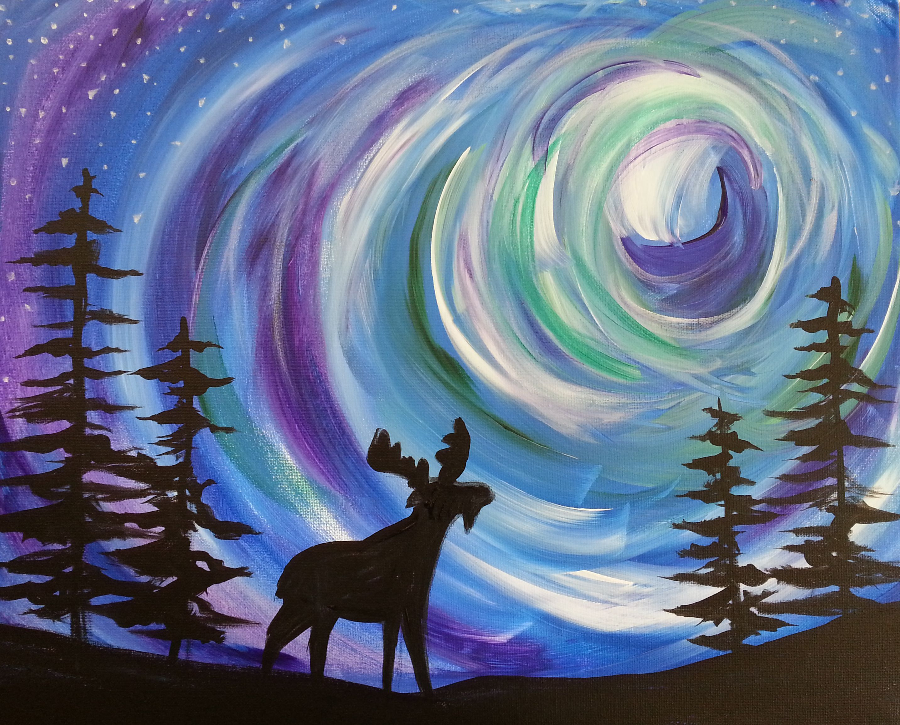 Northern Lights Painting   Google Search Awesome Design