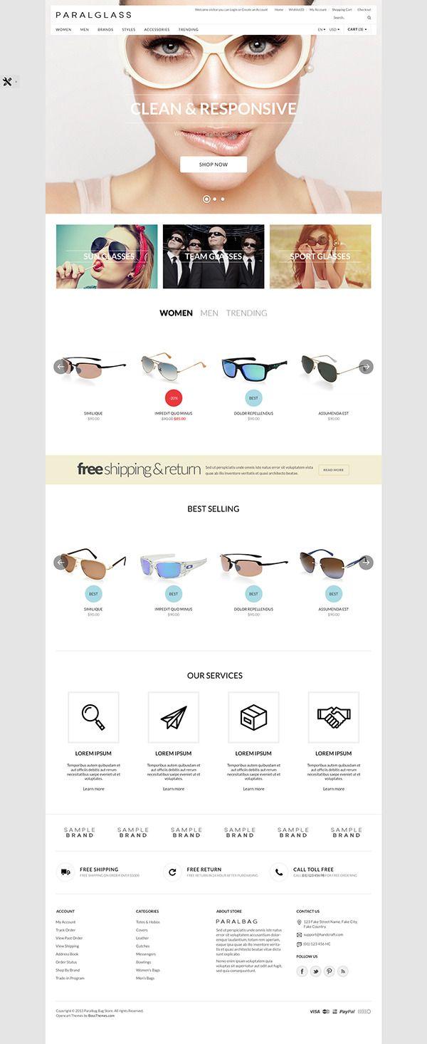2756e11d933f Opencart Fashion Bag Store - Parallax on Behance