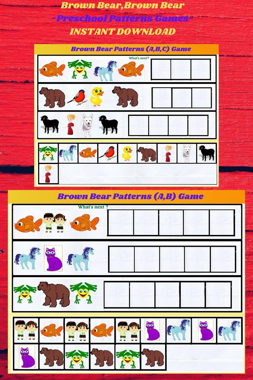 Brown bearbrown bearbusy book preschool patterns