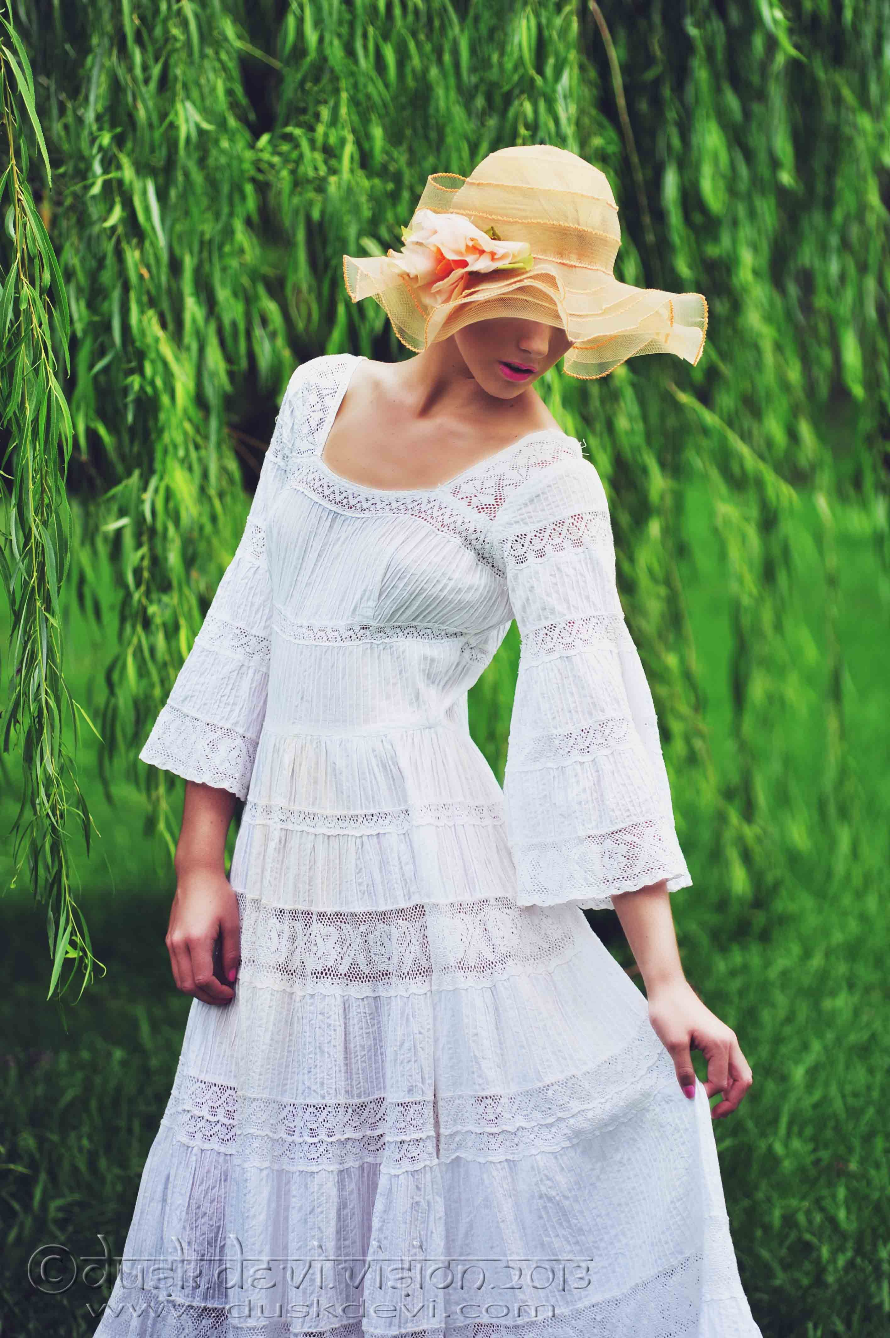 #vintage #1970s #crochet #lace #dress. Dusk Devi Vision photography for Vintage Junkyard.    www.facebook.com/vintagejunkyard