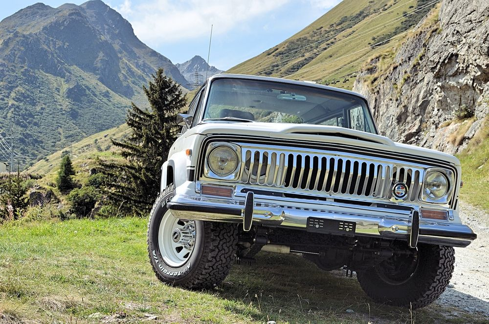 Jeep In The Swiss Alps Jeep Suv Jeep Wagoneer