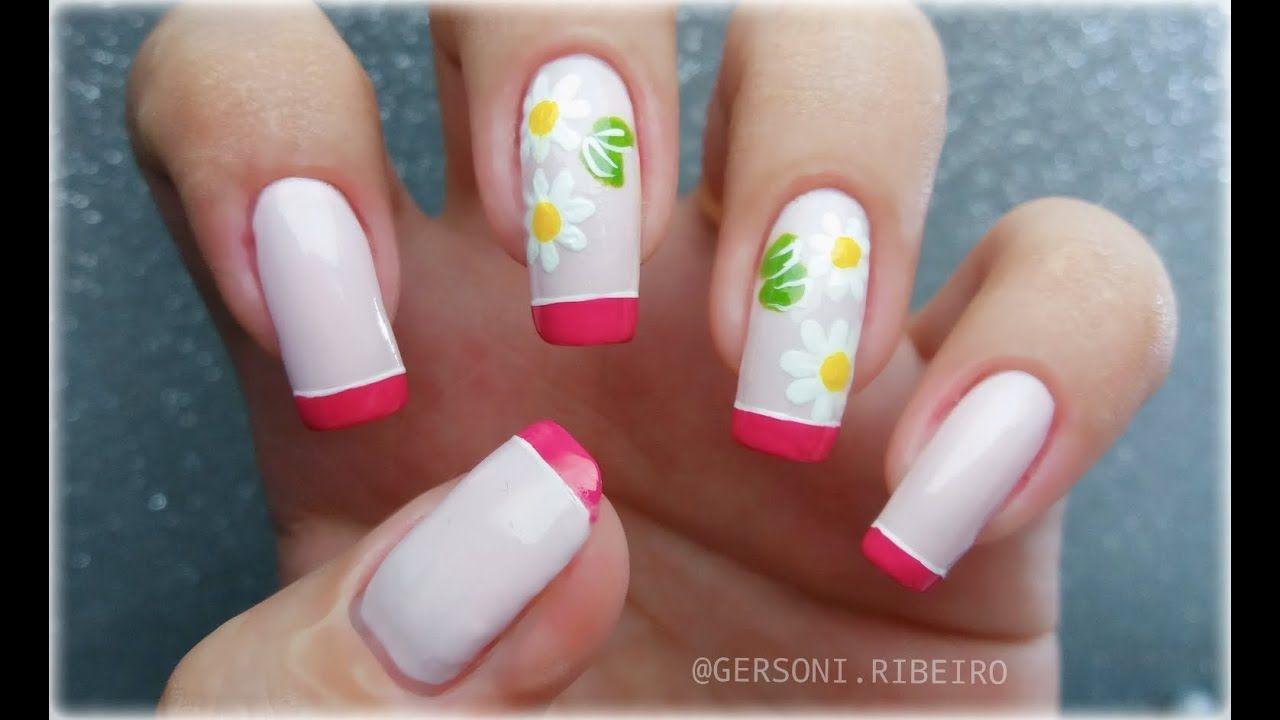 UNHAS DECORADAS COM FLORES [Fácil De Fazer] - Nail Art Flowers ...