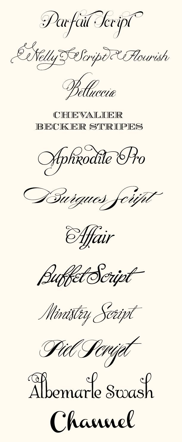 CT-Designs Calligraphy and Wedding Stationery: Top Wedding Fonts of ...