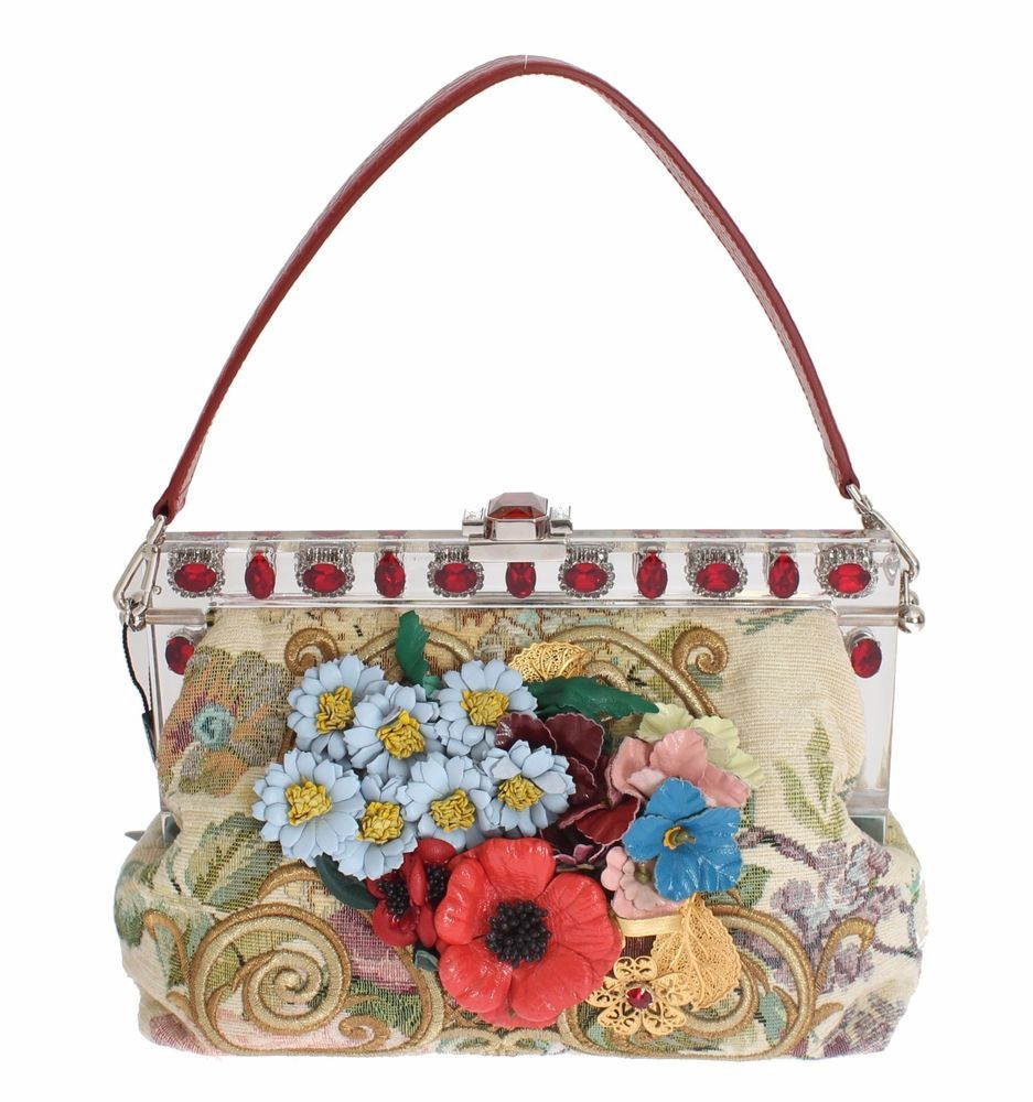 another chance great look reasonable price NEW $5300 DOLCE & GABBANA Bag Purse VANDA Floral Brocade ...