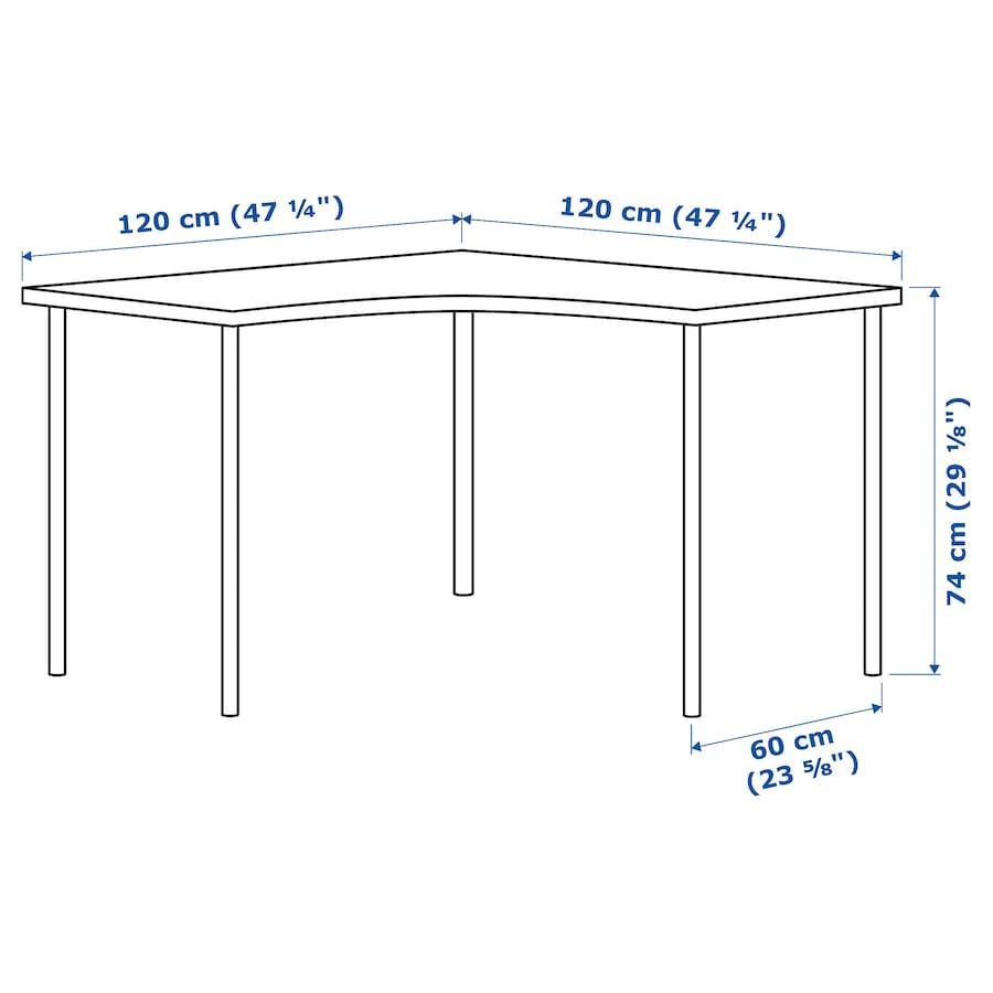 Linnmon Adils Corner Table White 47 1 4x47 1 4 Ikea In 2020 Corner Table Ikea Corner Desk Ikea