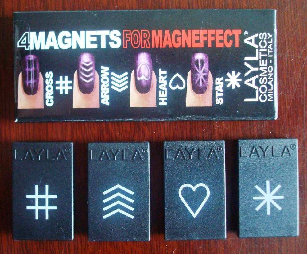 LAYLA COSMETICS ~ 4 Magnets For Magneffect ~ (Use with Magnetic Nail ...