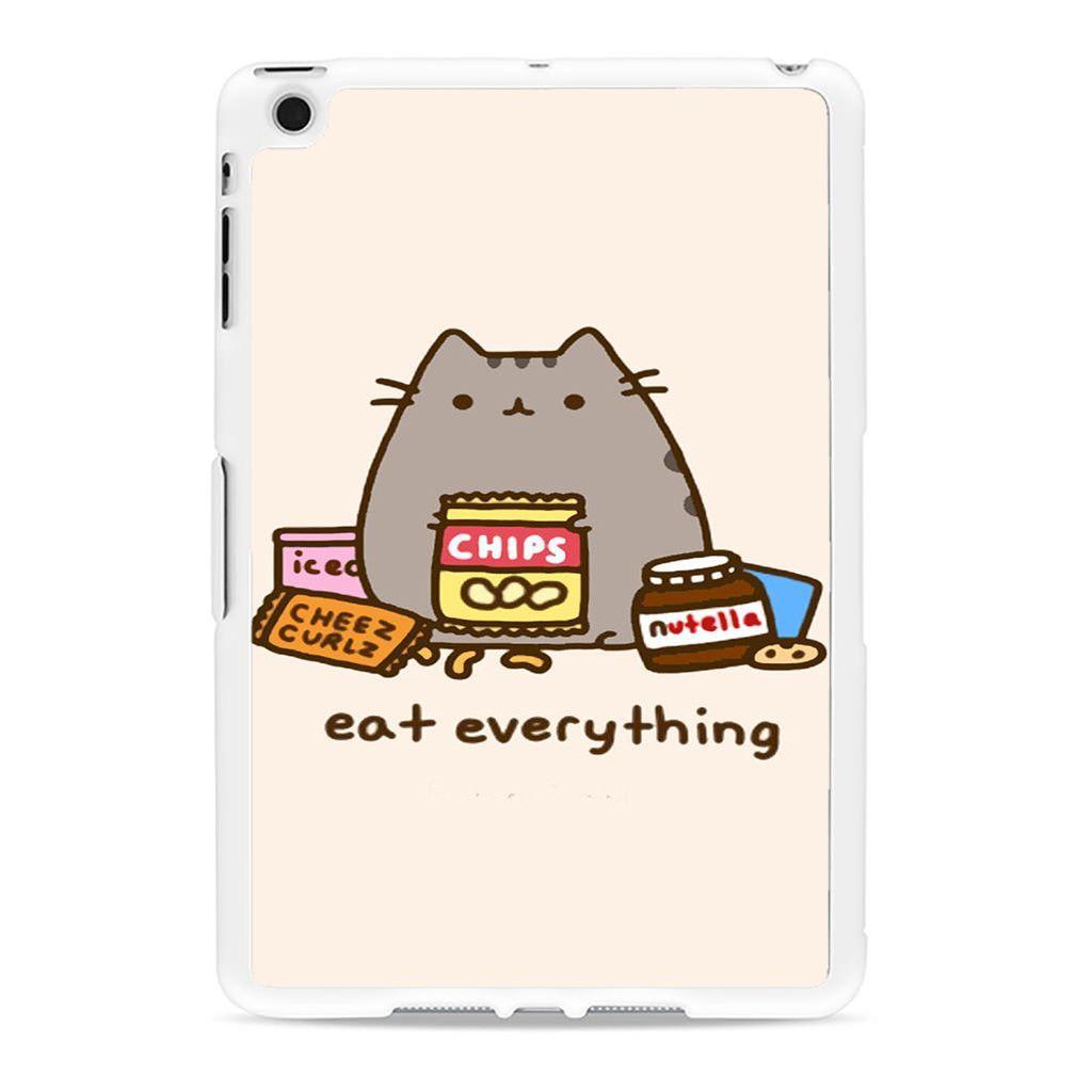 watch b2001 ab52e Pusheen The Cat Eat Every Thing Ipad Mini 2 Case | Just cute | Ipod ...