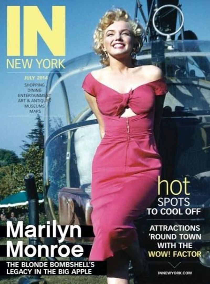 IN New York 2014 (USA) Marilyn Monroe - In New York - July 2014, magazine from USA. Front cover photo of Marilyn Monroe as she appeared while attending the Ray Anthony party, August 3rd 1952