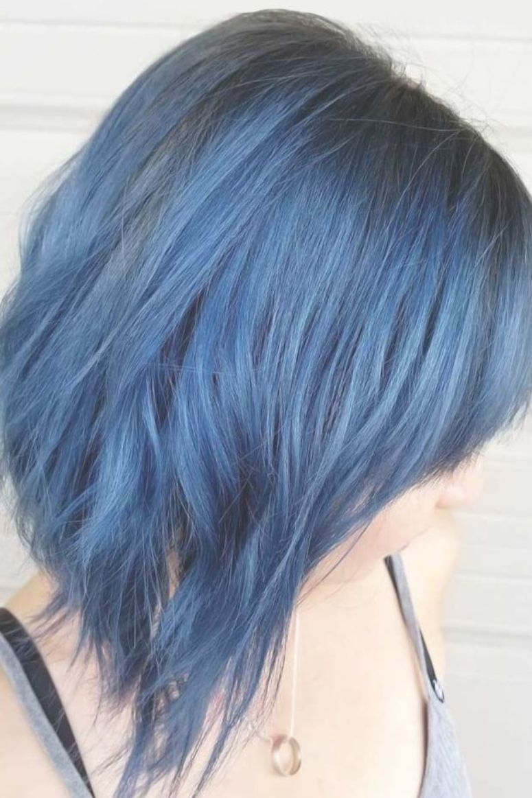 Smokey Black Blue Brunette Highlights Want To Pull Off Blue
