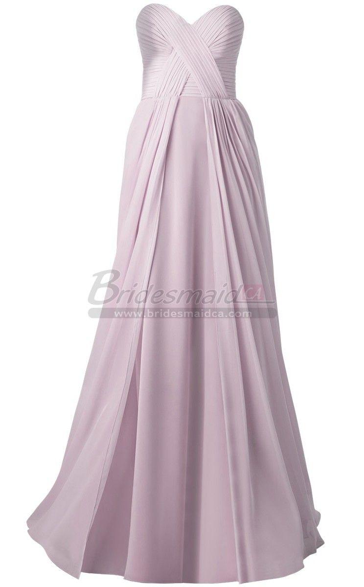 Bridesmaiddresses sweetheart neck long chiffon bridesmaid dress bds