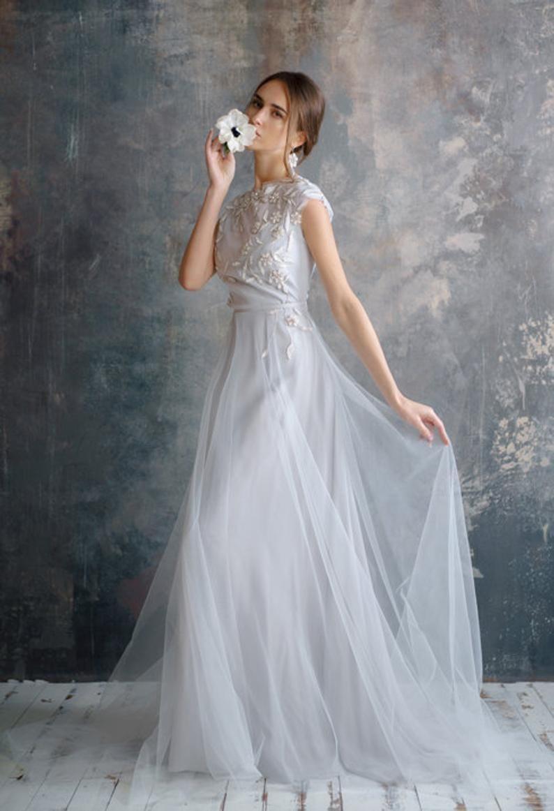 Flower Wedding Dress Etsy In 2020 Etsy Wedding Dress Wedding Dresses Wedding Dresses With Flowers